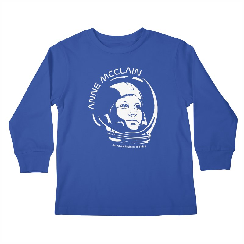 Women in Space: Anne McClain Kids Longsleeve T-Shirt by Photon Illustration's Artist Shop