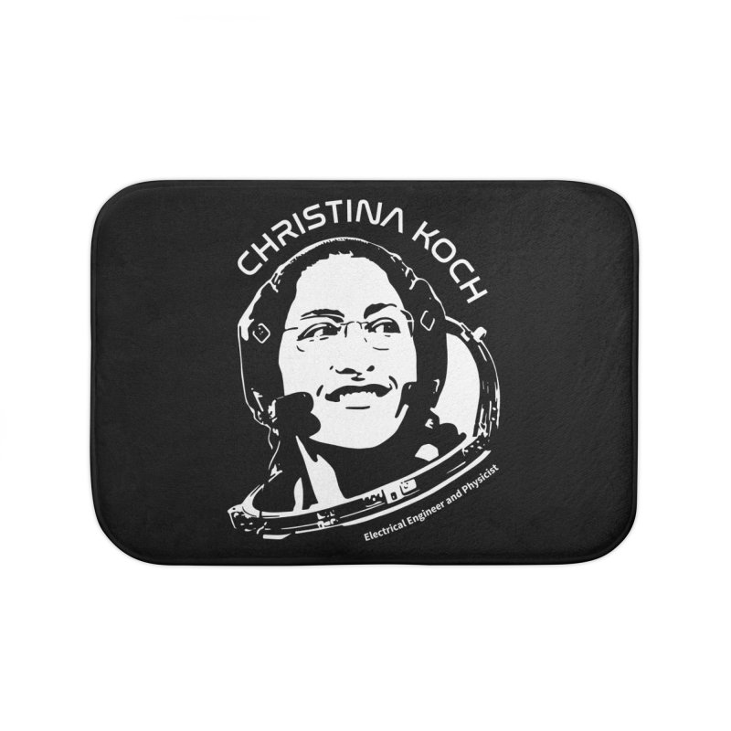 Women in Space: Christina Koch Home Bath Mat by Photon Illustration's Artist Shop