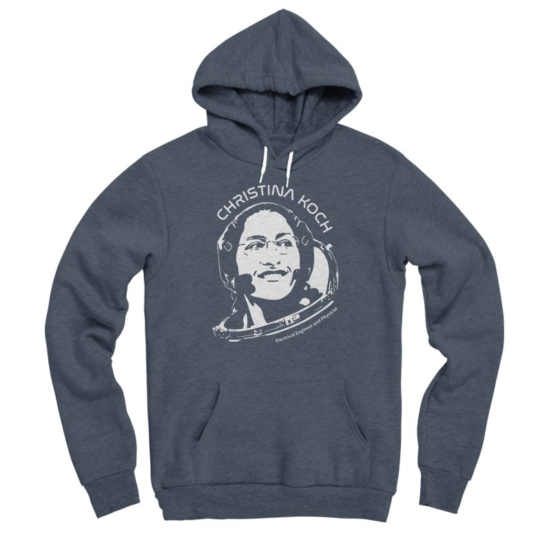 Women in Space: Christina Koch Men's Pullover Hoody by Photon Illustration's Artist Shop