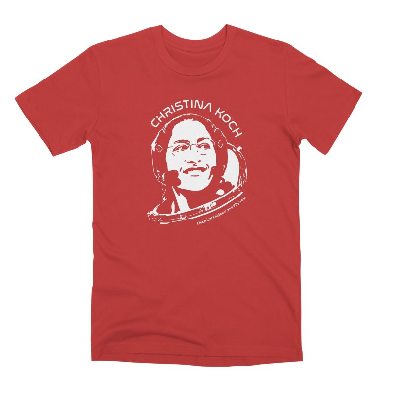 Women in Space: Christina Koch Men's T-Shirt by Photon Illustration's Artist Shop