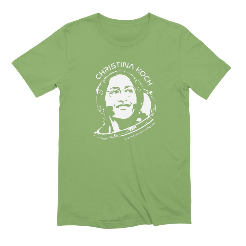 Women in Space: Christina Koch Men's Extra Soft T-Shirt by Photon Illustration's Artist Shop