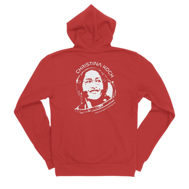 Women in Space: Christina Koch Women's Sponge Fleece Zip-Up Hoody by Photon Illustration's Artist Shop