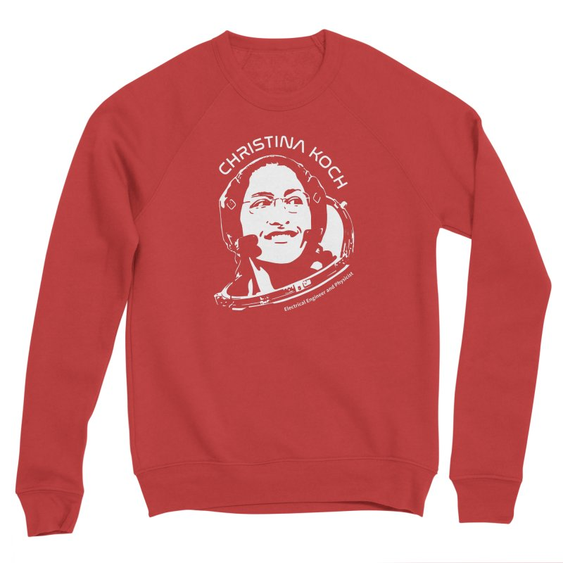 Women in Space: Christina Koch Men's Sponge Fleece Sweatshirt by Photon Illustration's Artist Shop