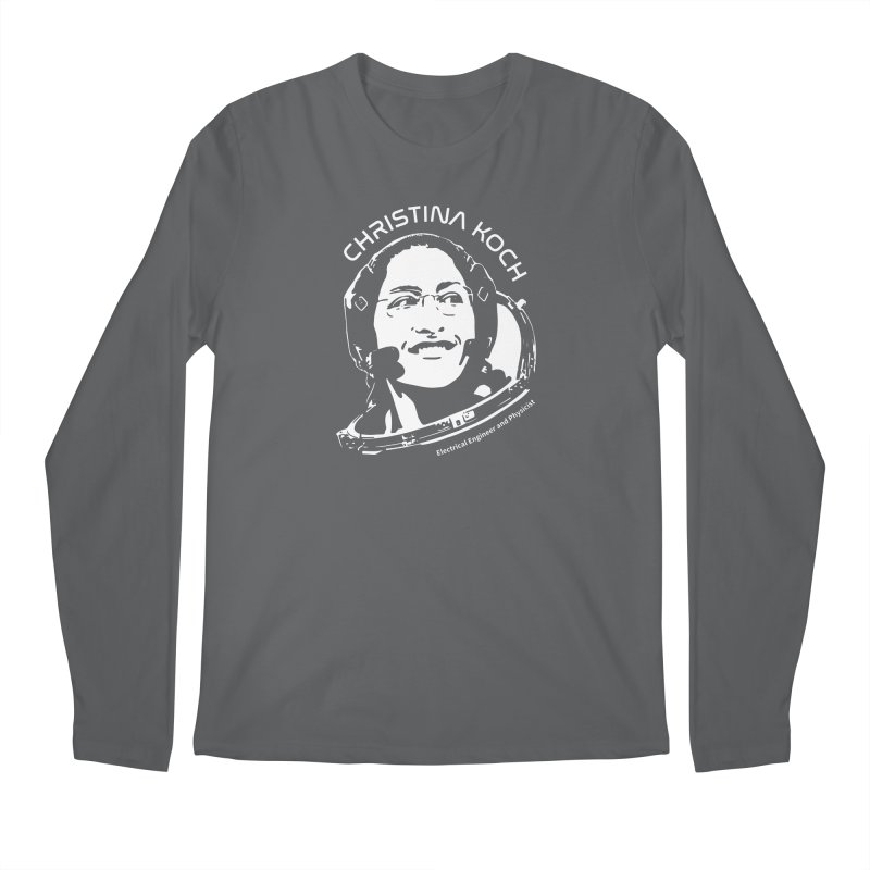Women in Space: Christina Koch Men's Longsleeve T-Shirt by Photon Illustration's Artist Shop