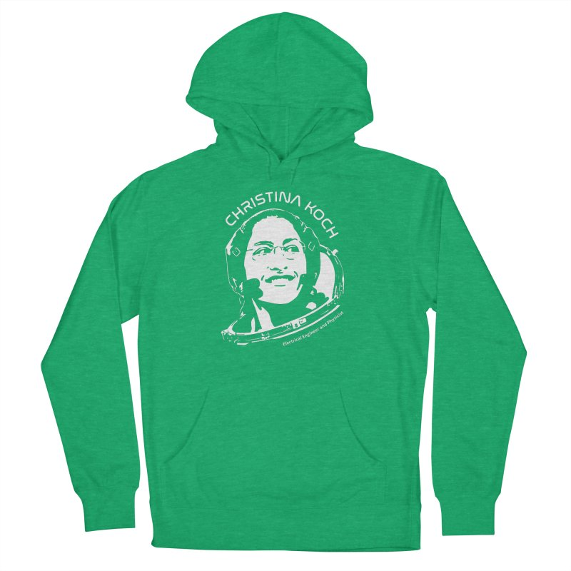 Women in Space: Christina Koch Men's French Terry Pullover Hoody by Photon Illustration's Artist Shop