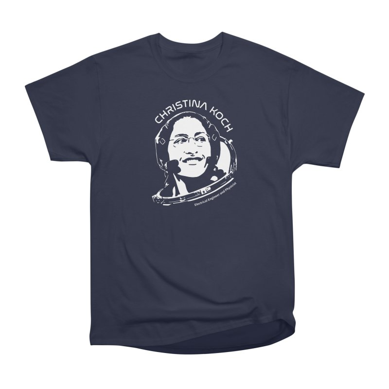 Women in Space: Christina Koch Women's Heavyweight Unisex T-Shirt by Photon Illustration's Artist Shop