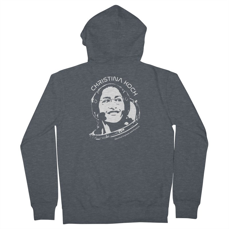 Women in Space: Christina Koch Women's French Terry Zip-Up Hoody by Photon Illustration's Artist Shop