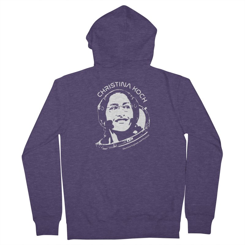 Women in Space: Christina Koch Men's French Terry Zip-Up Hoody by Photon Illustration's Artist Shop