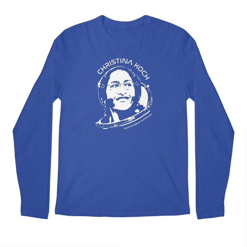Women in Space: Christina Koch Men's Regular Longsleeve T-Shirt by Photon Illustration's Artist Shop