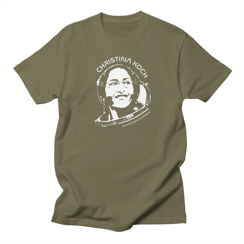 Women in Space: Christina Koch Women's Regular Unisex T-Shirt by Photon Illustration's Artist Shop