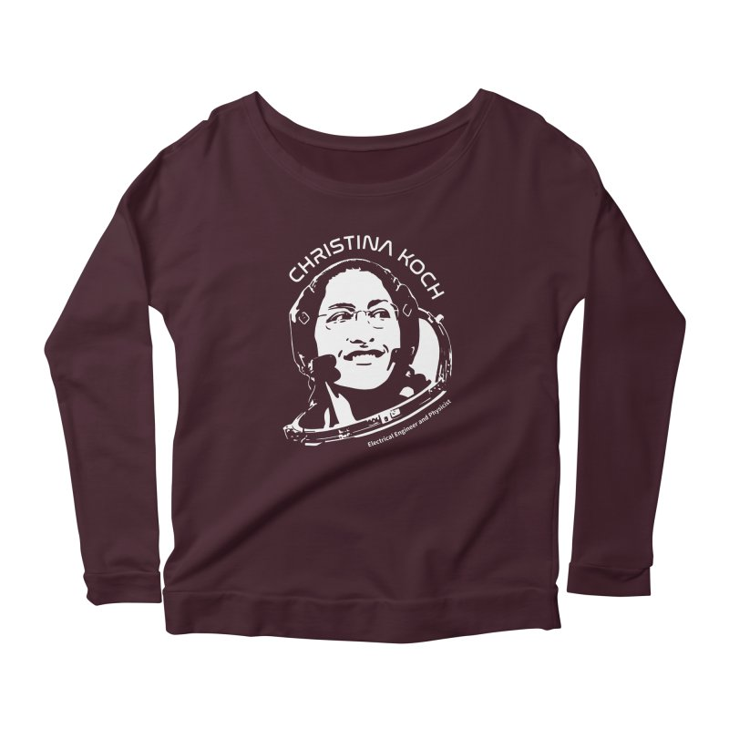 Women in Space: Christina Koch Women's Scoop Neck Longsleeve T-Shirt by Photon Illustration's Artist Shop