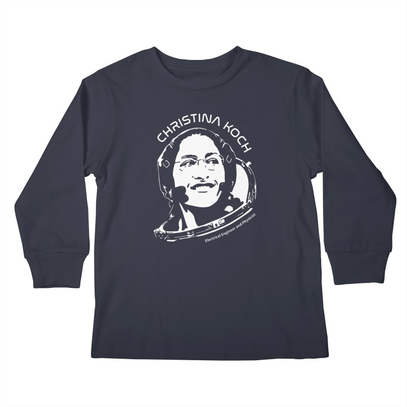 Women in Space: Christina Koch Kids Longsleeve T-Shirt by Photon Illustration's Artist Shop