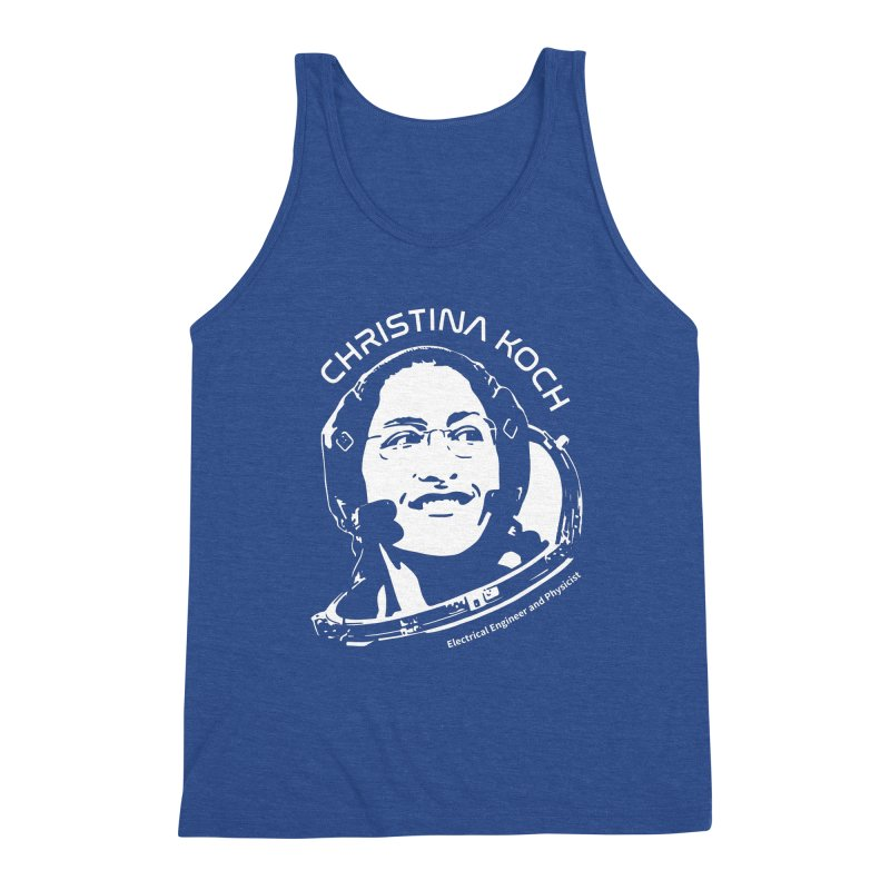 Women in Space: Christina Koch Men's Triblend Tank by Photon Illustration's Artist Shop