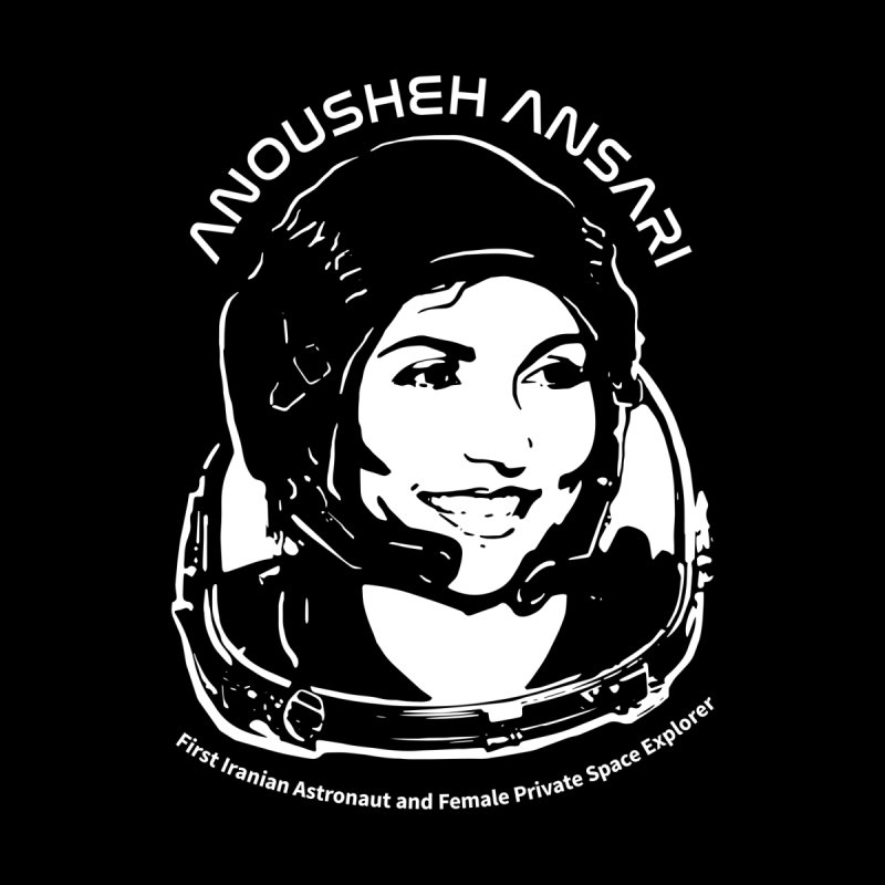 Women in Space: Anousheh Ansari Men's Longsleeve T-Shirt by Photon Illustration's Artist Shop
