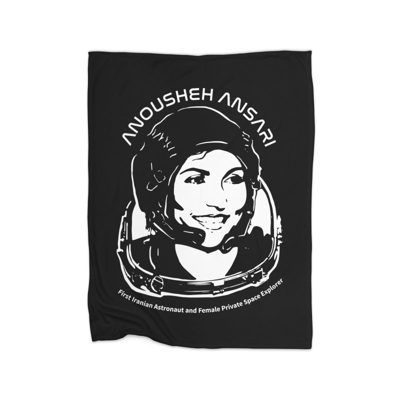 Women in Space: Anousheh Ansari Home Fleece Blanket Blanket by Photon Illustration's Artist Shop