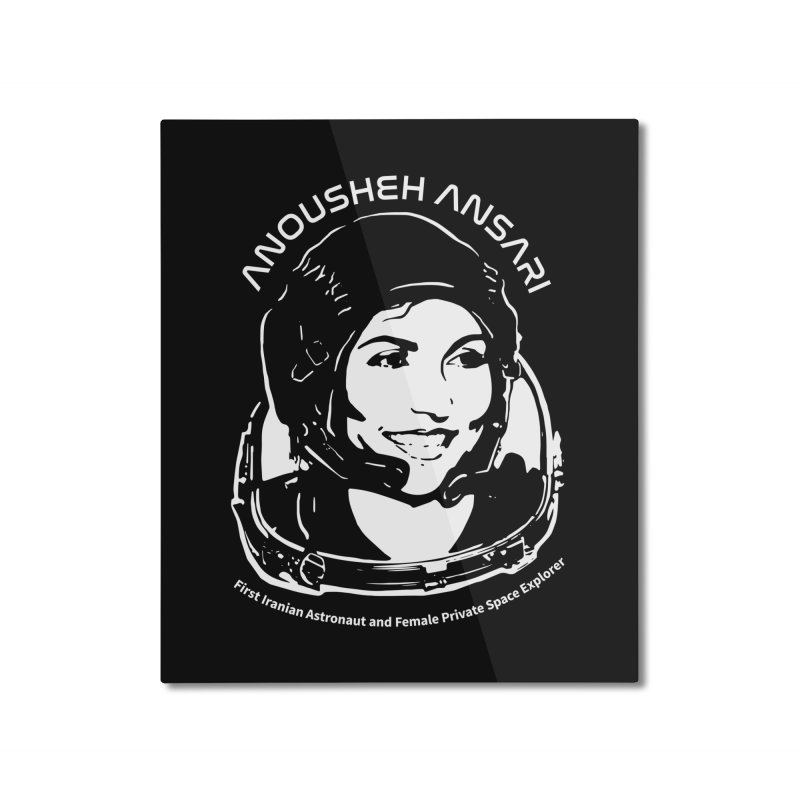 Women in Space: Anousheh Ansari Home Mounted Aluminum Print by Photon Illustration's Artist Shop