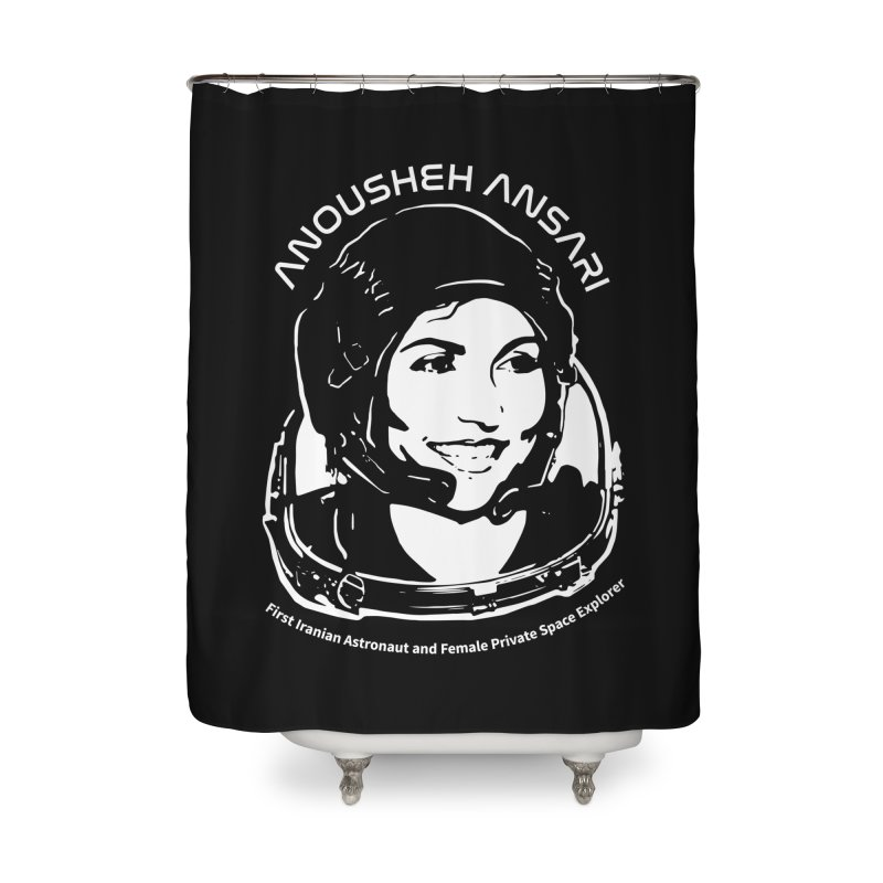 Women in Space: Anousheh Ansari Home Shower Curtain by Photon Illustration's Artist Shop