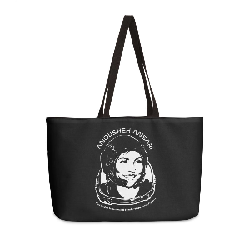 Women in Space: Anousheh Ansari Accessories Weekender Bag Bag by Photon Illustration's Artist Shop