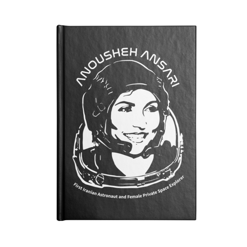 Women in Space: Anousheh Ansari Accessories Blank Journal Notebook by Photon Illustration's Artist Shop