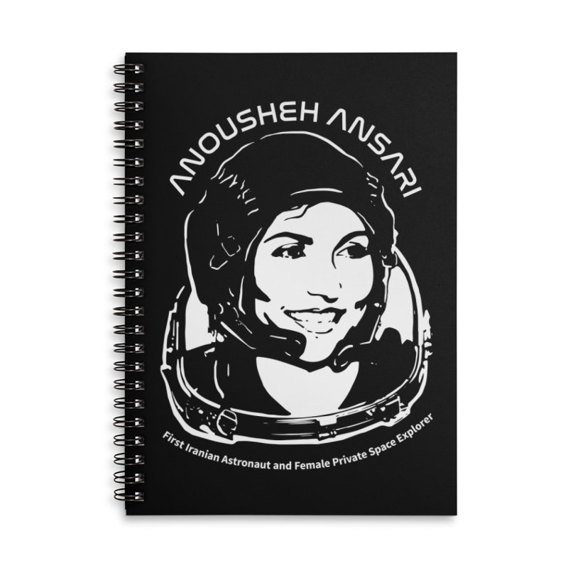 Women in Space: Anousheh Ansari Accessories Lined Spiral Notebook by Photon Illustration's Artist Shop