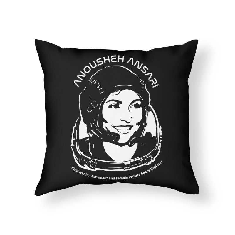 Women in Space: Anousheh Ansari Home Throw Pillow by Photon Illustration's Artist Shop