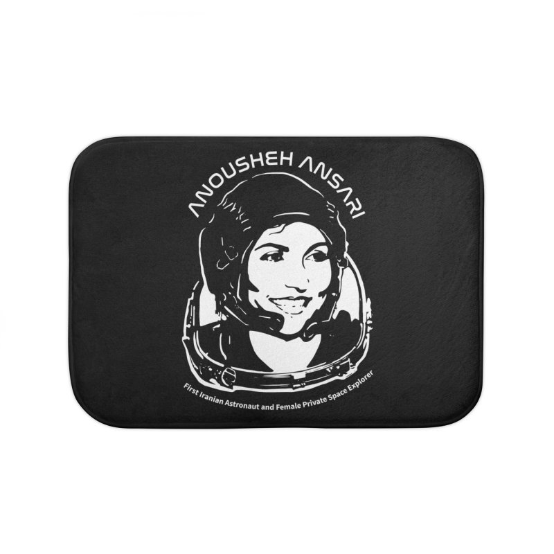 Women in Space: Anousheh Ansari Home Bath Mat by Photon Illustration's Artist Shop