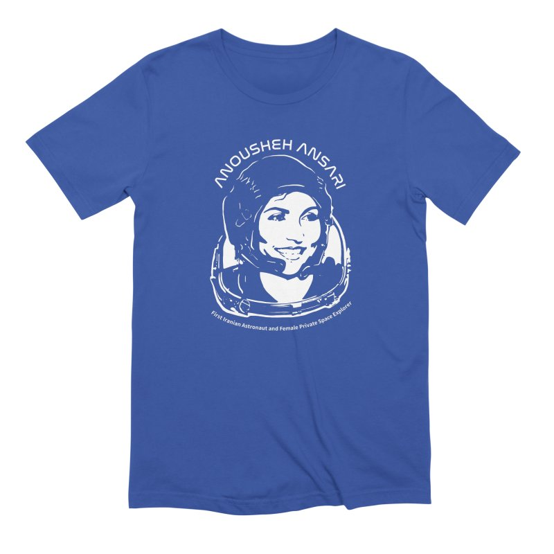 Women in Space: Anousheh Ansari Men's Extra Soft T-Shirt by Photon Illustration's Artist Shop