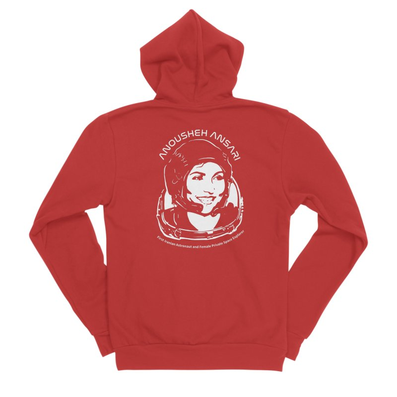 Women in Space: Anousheh Ansari Women's Sponge Fleece Zip-Up Hoody by Photon Illustration's Artist Shop