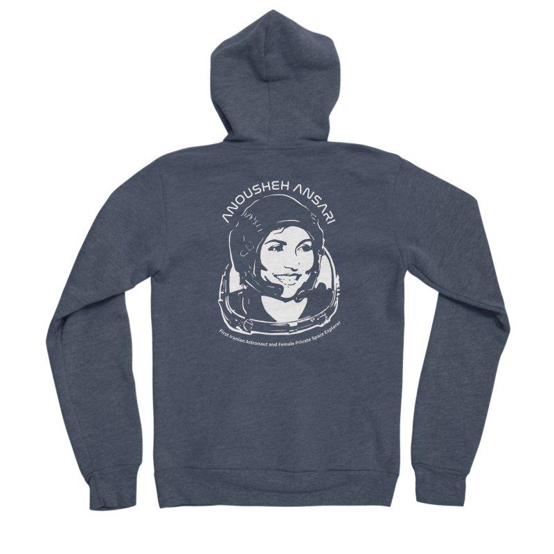 Women in Space: Anousheh Ansari Women's Sponge Fleece Zip-Up Hoody by Photon Illustration's Artist Shop