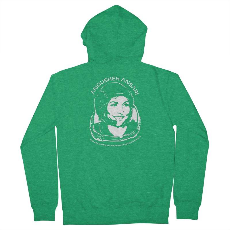 Women in Space: Anousheh Ansari Men's Zip-Up Hoody by Photon Illustration's Artist Shop