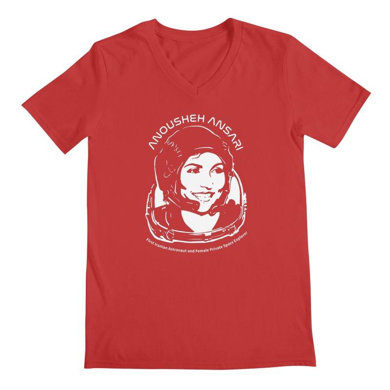 Women in Space: Anousheh Ansari Men's V-Neck by Photon Illustration's Artist Shop