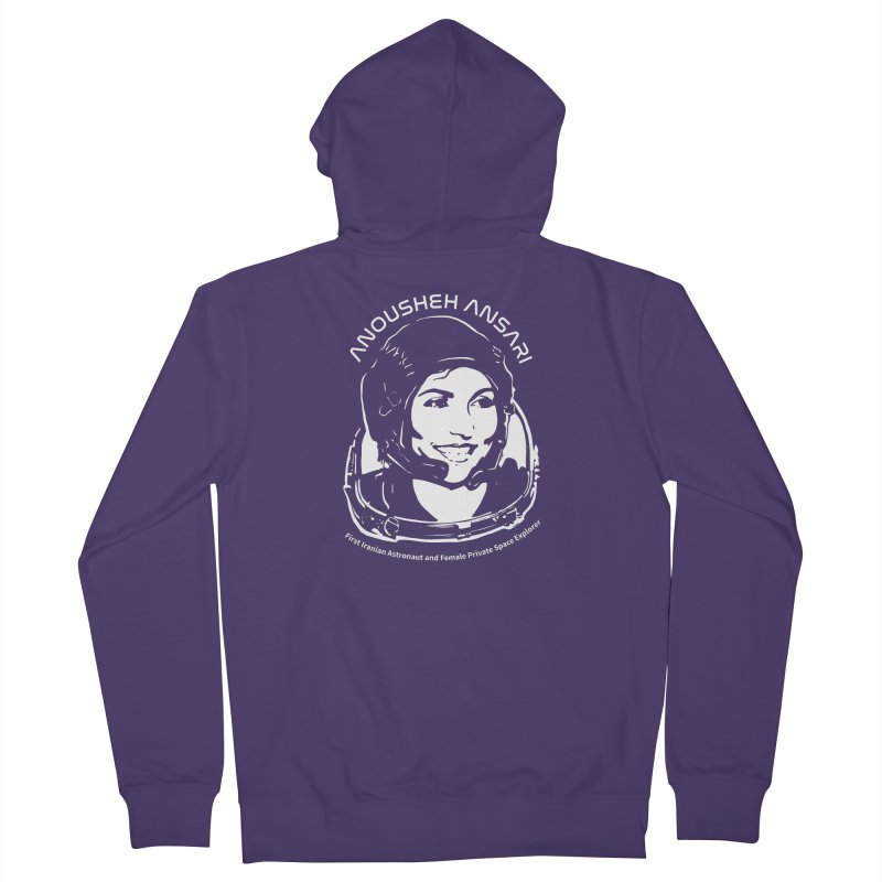 Women in Space: Anousheh Ansari Women's French Terry Zip-Up Hoody by Photon Illustration's Artist Shop