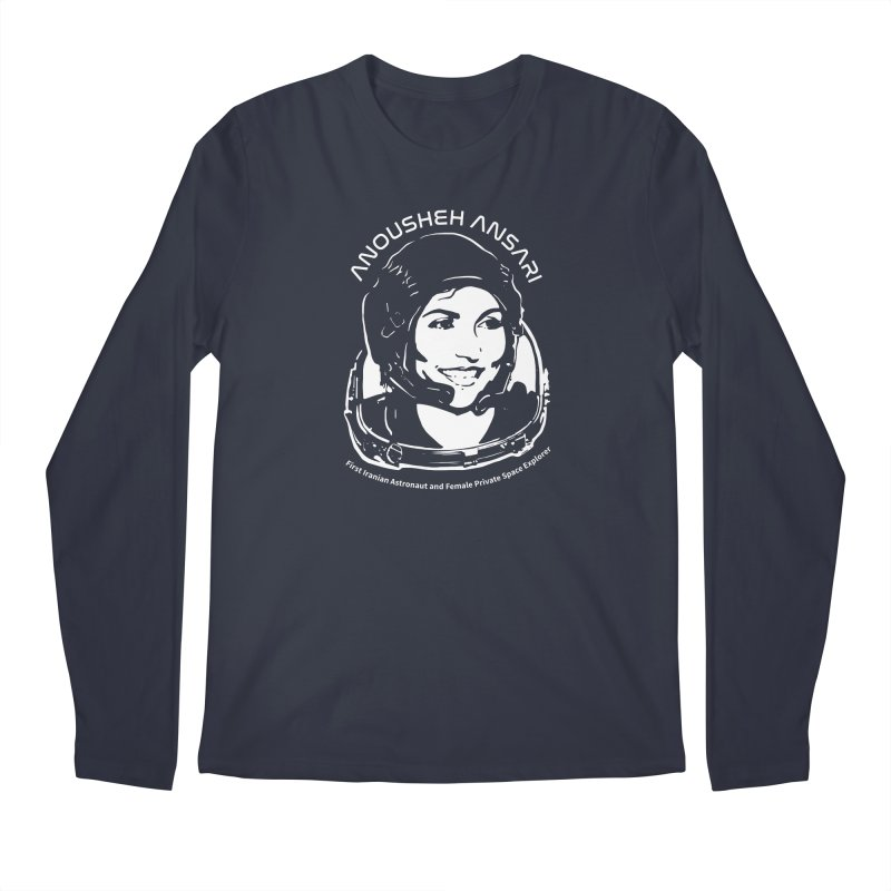 Women in Space: Anousheh Ansari Men's Regular Longsleeve T-Shirt by Photon Illustration's Artist Shop