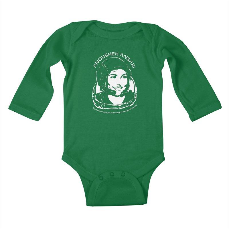 Women in Space: Anousheh Ansari Kids Baby Longsleeve Bodysuit by Photon Illustration's Artist Shop