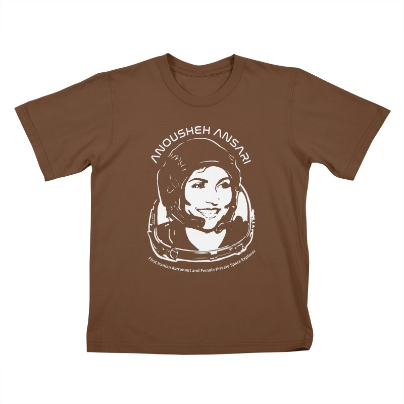 Women in Space: Anousheh Ansari Kids T-Shirt by Photon Illustration's Artist Shop