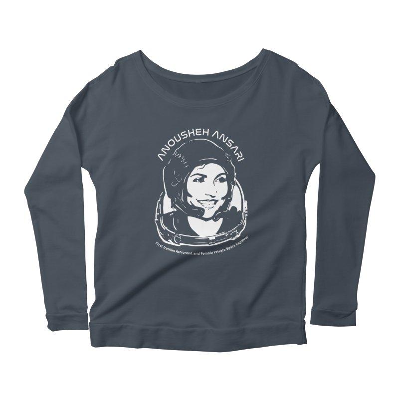 Women in Space: Anousheh Ansari Women's Scoop Neck Longsleeve T-Shirt by Photon Illustration's Artist Shop