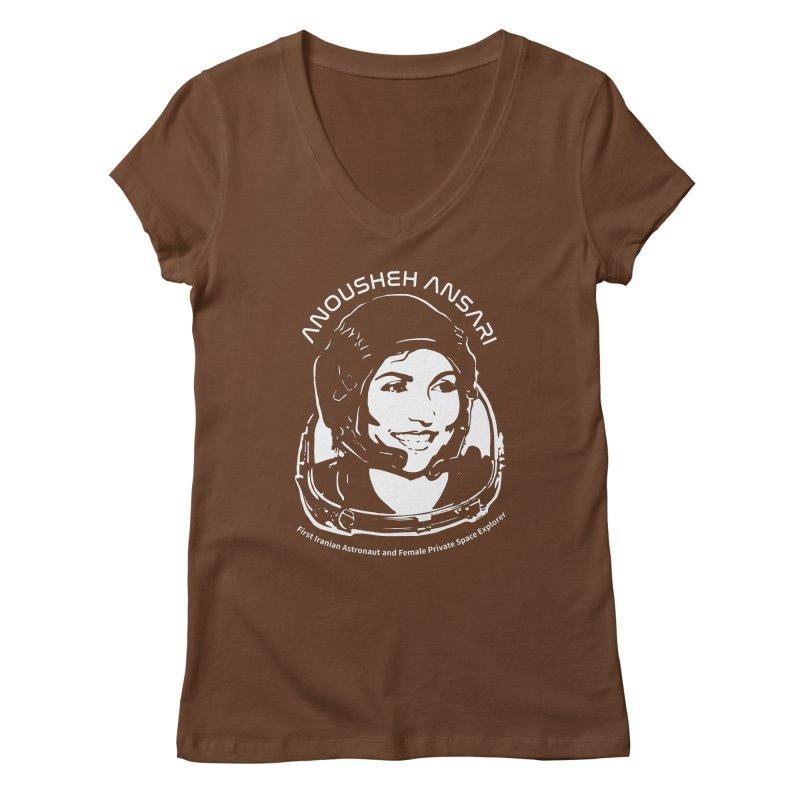 Women in Space: Anousheh Ansari Women's Regular V-Neck by Photon Illustration's Artist Shop