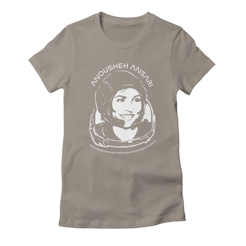 Women in Space: Anousheh Ansari Women's Fitted T-Shirt by Photon Illustration's Artist Shop
