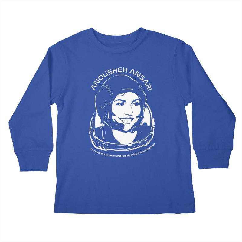 Women in Space: Anousheh Ansari Kids Longsleeve T-Shirt by Photon Illustration's Artist Shop