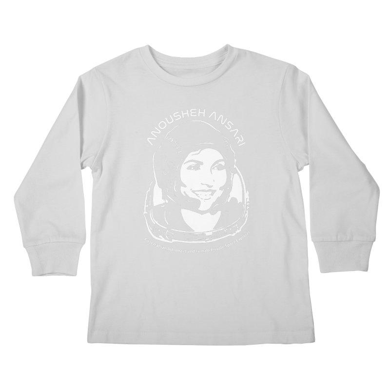 Women in Space: Anousheh Ansari Kids Longsleeve T-Shirt by Photon Illustration's Artist Shop