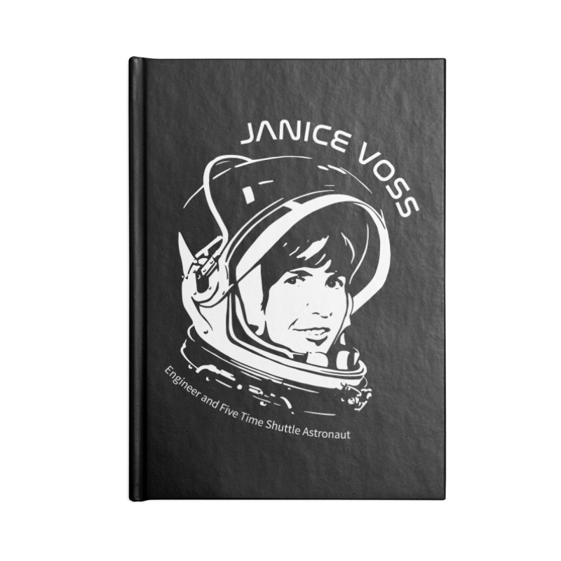 Women in Space: Janice Voss Accessories Lined Journal Notebook by Photon Illustration's Artist Shop