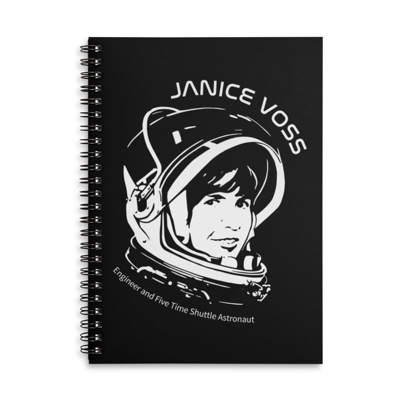 Women in Space: Janice Voss Accessories Lined Spiral Notebook by Photon Illustration's Artist Shop
