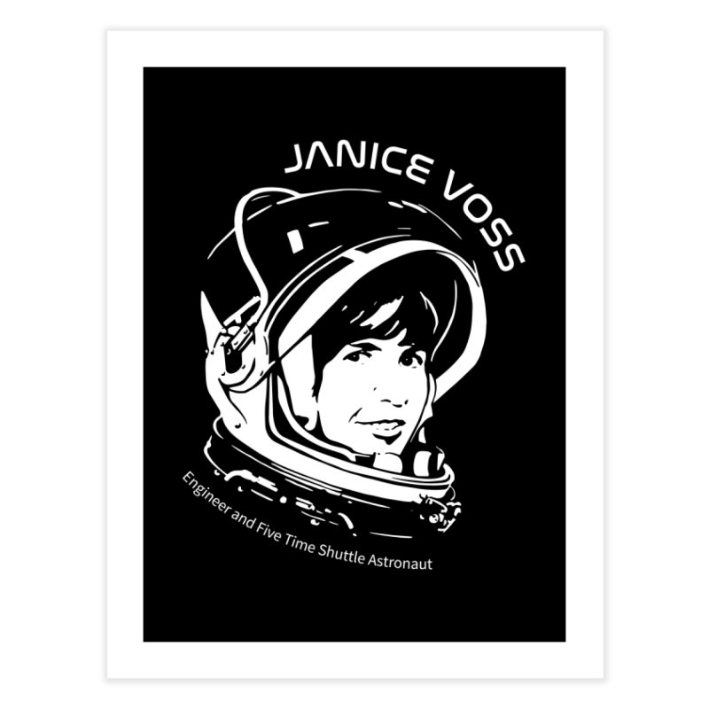 Women in Space: Janice Voss Home Fine Art Print by Photon Illustration's Artist Shop