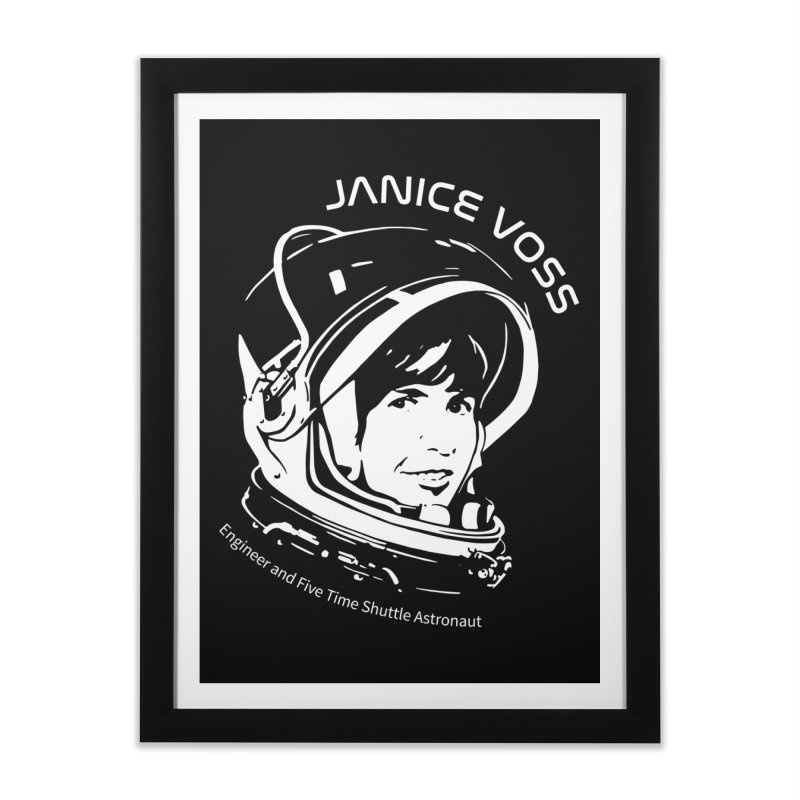 Women in Space: Janice Voss Home Framed Fine Art Print by Photon Illustration's Artist Shop