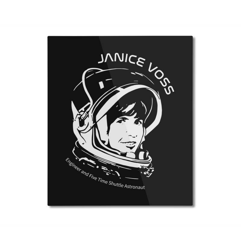 Women in Space: Janice Voss Home Mounted Aluminum Print by Photon Illustration's Artist Shop