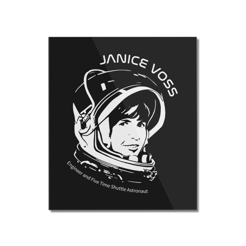 Women in Space: Janice Voss Home Mounted Acrylic Print by Photon Illustration's Artist Shop