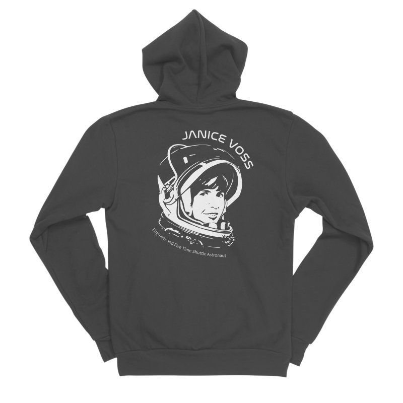 Women in Space: Janice Voss Women's Sponge Fleece Zip-Up Hoody by Photon Illustration's Artist Shop