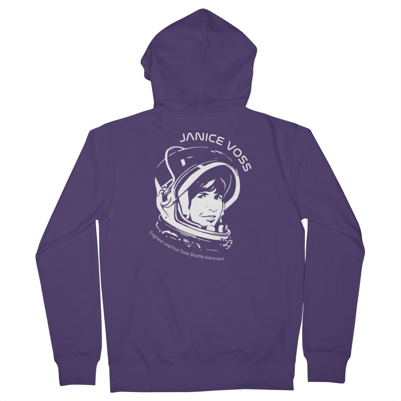 Women in Space: Janice Voss Women's French Terry Zip-Up Hoody by Photon Illustration's Artist Shop