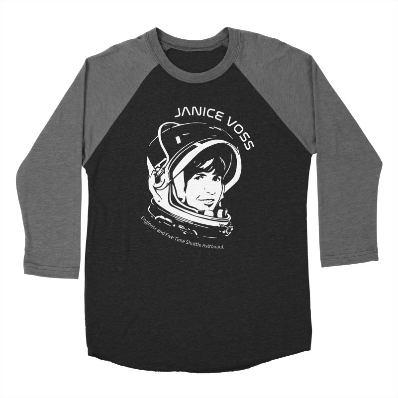 Women in Space: Janice Voss Women's Baseball Triblend Longsleeve T-Shirt by Photon Illustration's Artist Shop