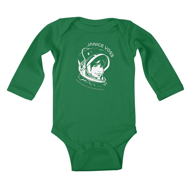 Women in Space: Janice Voss Kids Baby Longsleeve Bodysuit by Photon Illustration's Artist Shop